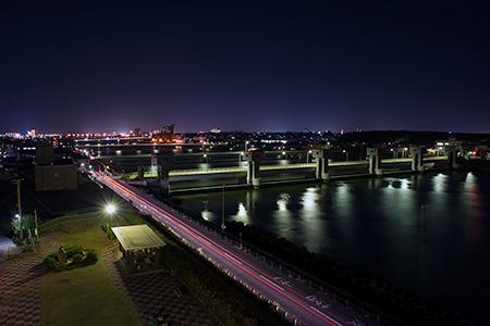 関分記念公園の夜景
